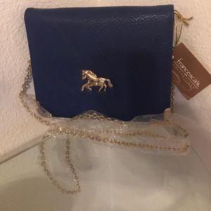 Blue crossbody cute lil purse